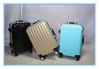 cheap new design ABS 4 spinner wheel aluminum trolley travel bags