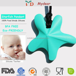 Wholesale Teething Pendant / FDA Approved Chewable Silicone Jewelry Baby Stuff