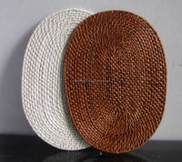 Oval Bamboo Rattan Placemat