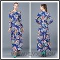 Mejor vendido, famoso vestido de noche de estampado floral, proveedor de China