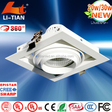 High power ultra slim ceiling recessed best product 20w downlight
