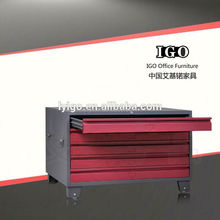 ISO Certified IGO-005T Elegant and Pretty 4 compartment steel locker
