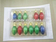 Clear blister compartment packaging for Christmas light set