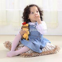 Melhor fábrica qualidade bebés cor sólida meias de nylon meias de seda China fornecedor