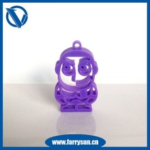 2015 Particular small silicone keychains/ charms pendants/ Pierced pendants