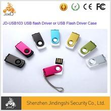 Polished aluminum surface oxide + plastic shell rotating tray USB flash driver, memory stick, USB storage
