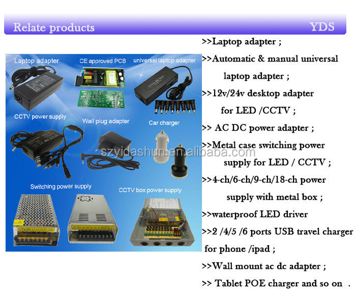CE Hot sale high voltage switching power supply 240w 24v 20a high power single output YDS24-480 factory price