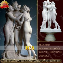 tres belleza figura jardín justo famoso mármol blanco escultura RCO0040