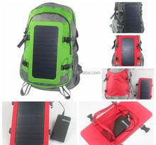portable solar hiking bag, solar energy bag for traveller and hiking