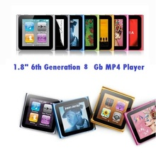 "8 GB 6th Gen Touch Screen Shake Song 1.8""LCD FM Radio Video Mp3 Mp4 Mp5 Player"