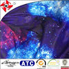 multi color four way stretch galaxy print fabric / space galaxy stars twilight starry night sky print fabric