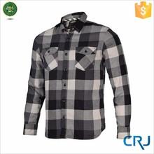 Men's Edgeware Plaid Western Style Shirt-Cream Blue Custom Flannel Shirt