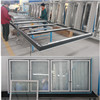 Anti condensation commercial glass doors for supermarket multideck showcase