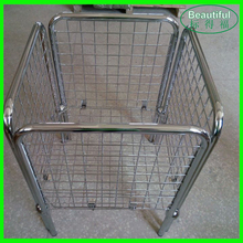 Supermarket Hot Sale Metal Chrome Wire Basket Storage Container,Dump Bin