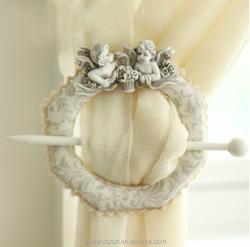 European-style resin lace curtain clip antique curtain hooks