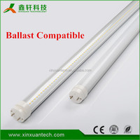 Direct-replace led tube w/clear cover 100-277V 4ft tube electronic ballast