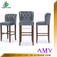 2015 Year European Style New Design Upholstery Bar Stools Chair/bar Chair For Bar Furniture /wooden Bar Chair without armest