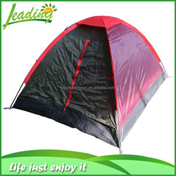 Modern European Camping Tent 4 Person, Decorate Manufacture Canvas Pink Camping Tent
