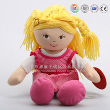 ICTI audited plush rag dolls/OEM plush cloth dolls stuffed plush rag/cloth dolls toys