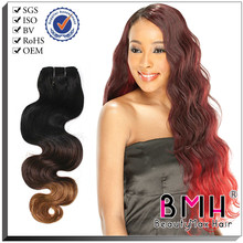 100% virgin remy two tone ombre micro loop ring hair extension