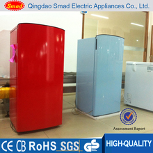 single door colorful refrigerator and freezer combi for home use
