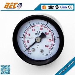 General painted steel pressure gauge manometer bourdon tube inside