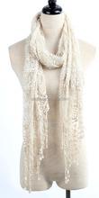 Moda para mujer de poliéster pañuelo de encaje