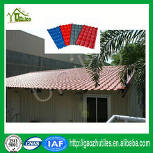light weight strong impact resistance spanish plastic roof tile\/ composite sandwich panel\/corrugated pvc roof sheet