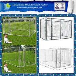 China supplier -Direct factory high quality metal cheap chain link dog kennels