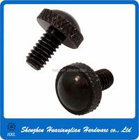 Nylon knurled plastic thumb cap screw m4 with factory price