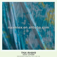 tie dyed poly knitted slubbed fabric