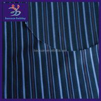knit yarn dye single jersey fabric polyester elastane fabric