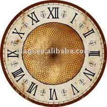 "Dia12"" Gold Net Retro Style Antique Rust Edge Table Clock"
