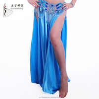 Q00153 all matching sexy side slit belly dance skirt