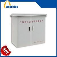 42U telecom equipment outdoor storage cabinet waterproof with three point locks