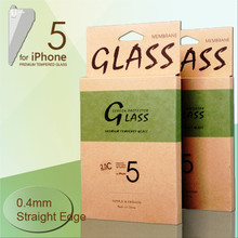 """JJL Tempered Glass Screen Protector For iPhone 5 (0.4mm 4"""" Straight Edge 9H HD Clear)"""
