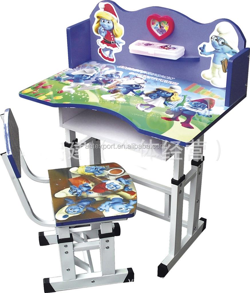 nios de altura ajustable escritorio y silla portable estilo mobiliario escolar para fabrica de dibujos animados