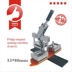 53X80mm manual rectangle button badge making machine