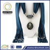Best-selling women rayon /viscose scarf rayon shawl with jewelry