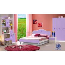 Crianças mobília do cor de rosa beliches para meninas