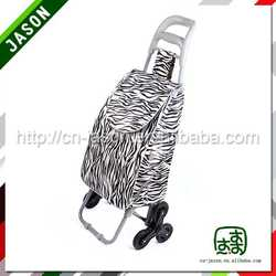 foldable shopping cart fold vegetable shopping trolley bag with seat