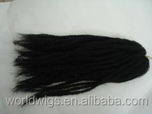 Alibaba wholesale synthetic marley kanekalon fiber hair braid