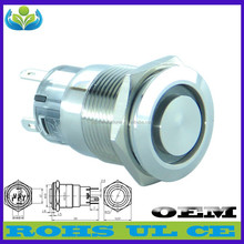 Waterproof button manufacturer metal ring with a light switch foot switch for floor lamps