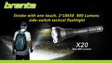 リモート圧力スイッチとX20800ルーメン高輝度ハイパワー懐中電灯