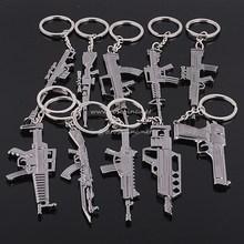 Mini CF metal gun keychain