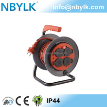 NBYLK French rubber cable reel H07RN-F 3G2.5mm2 15m extension wire reel with 4 waterproof socket covers