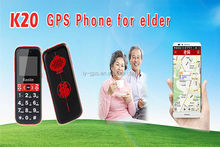 GPS phone with sos button,gps cell phone for elders/old people K20