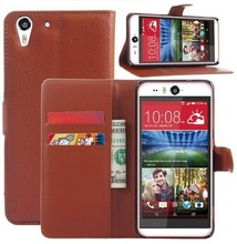 Leather wallet style mobile phone case for HTC desire eye