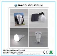Light Auto Control White Solar LED Bulb