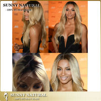 Two Tone 26inch 150% Density Ciara Inspired Full Lace Human Hair Wig Brazilian